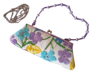 Embroidered Beaded Multi Floral Clutch