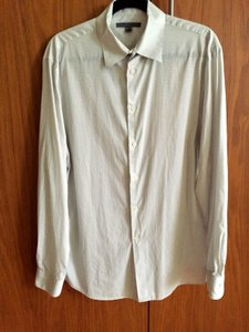 John Varvatos White Men's Shirt