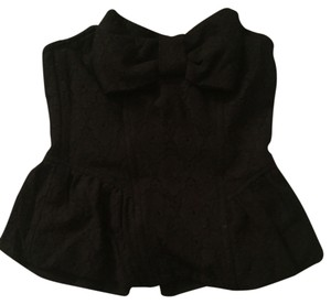 Forever 21 Winter Corset Lace Top Black