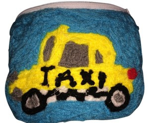 Treasure & Bond Cosmetic Bag-Yellow Cab decorated