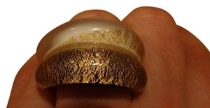 Murano Made in Italy 24KMurano glass ring, size 11