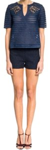 Cynthia Rowley Lace Short Shorts Navy