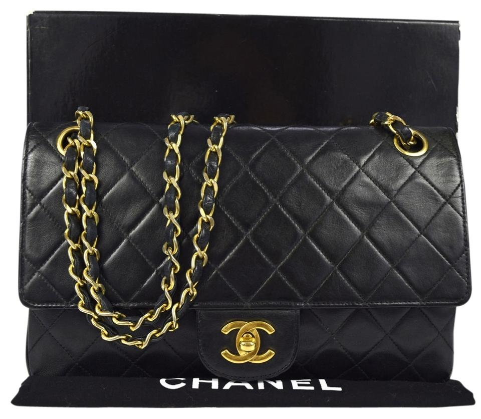 1b2a43ab8df7bb Chanel 2.55 Reissue Box Vintage Classic Double Chain Flap With Black  Leather Shoulder Bag