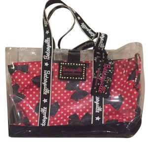 Betseyville by Betsey Johnson Tote in Black, White, And Red