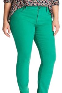 Lucky Brand Plus Green Colored Skinny Jeans-Light Wash