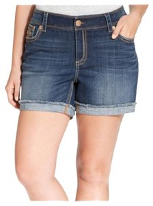 7 For All Mankind Plus Denim Short Shorts Blue