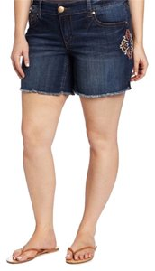 7 For All Mankind Plus Denim Shorts Denim Blue