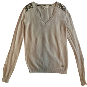 Burberry Knit Cashmere Longsleeve Gem Jeweled Embellish Sweater