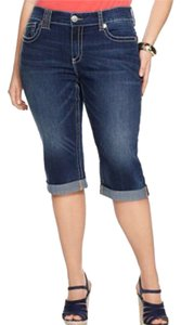 7 For All Mankind Capris Denim Blue