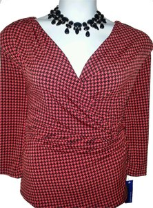 Peter Nygard Top RED/BLACK
