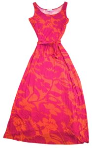 Fuchsia and orange Maxi Dress by Michael Kors
