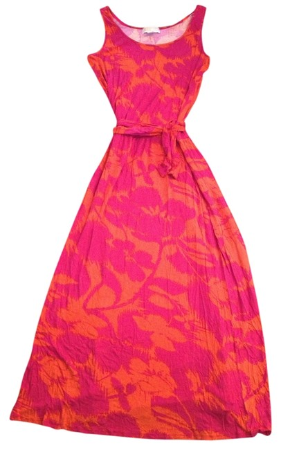 Preload https://item4.tradesy.com/images/michael-kors-fuchsia-and-orange-long-casual-maxi-dress-size-12-l-554313-0-0.jpg?width=400&height=650