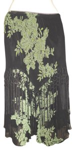 Lola P Fringe Skirt black & green