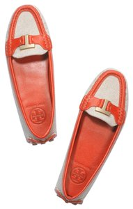Tory Burch Tory Orange & Sand Flats