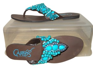 Carlos by Carlos Santana Thong turquoise & brown Sandals