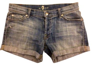 7 For All Mankind Mini/Short Shorts Medium Wash