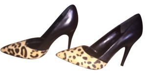 Guess Leopard Black Leather Heel Cow Hair Black/Leopard Pumps