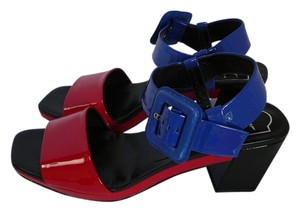 Roger Vivier 38 Chanel 38 Prada 38 Gucci Blue and Red Sandals
