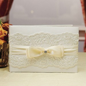 Beverly Clark Ivory Lace French Collection Guest Book In Reception Decoration