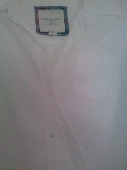 American Eagle Outfitters Button Down Shirt White