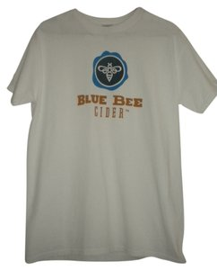 Gildan T Shirt White and Blue