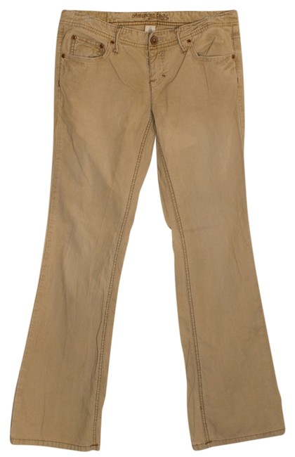 American Eagle Outfitters Flare Pants Tan