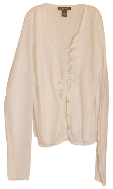 Preload https://item4.tradesy.com/images/kenar-white-ruffled-cardigan-size-6-s-554663-0-0.jpg?width=400&height=650