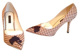 Louis Vuitton Checkered brown/white Pumps