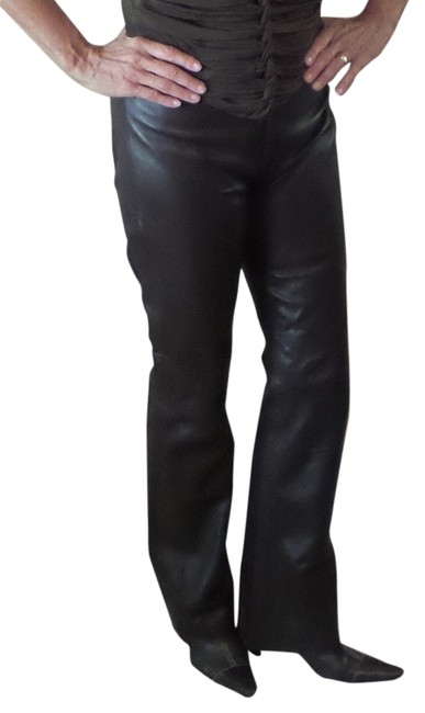 Preload https://item2.tradesy.com/images/bcbgmaxazria-brown-leather-flared-pants-size-10-m-31-5546851-0-0.jpg?width=400&height=650