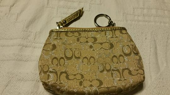 Coach Coach Khaki/gold key fob