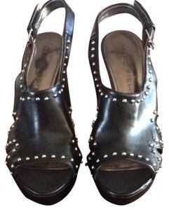 Marc Fisher Slingback Open Toe Studded Black Pumps