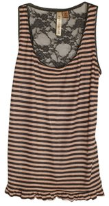 Eyeshadow Top Dark Gray/Salmon Stripes