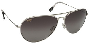 Maui Jim Maui Jim Silver/Grey Lenses Polarized 264-17 Sunglasses
