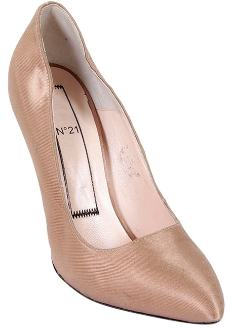 No.21 Nude Dusty Rose N21 - Silk Denim and Leather Stiletto Pumps Size US 9 Regular (M, B) No.21 Nude Dusty Rose N21 - Silk Denim and Leather Stiletto Pumps Size US 9 Regular (M, B) Image 1