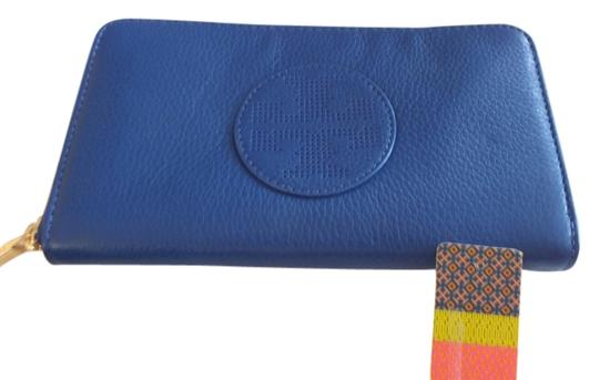 Tory Burch Tory Burch Kipp Continental Zip Wallet Style#19149190 Color:Blue Nile/467