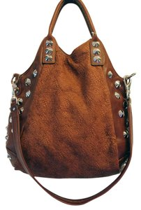 Be&D Studded Rocker Leather Cross Body Bag