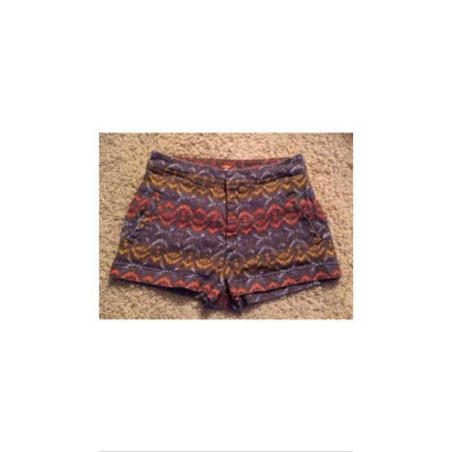 Free People Bohemian Boho Festival Tribal Hippie Mini/Short Shorts Multi-Color