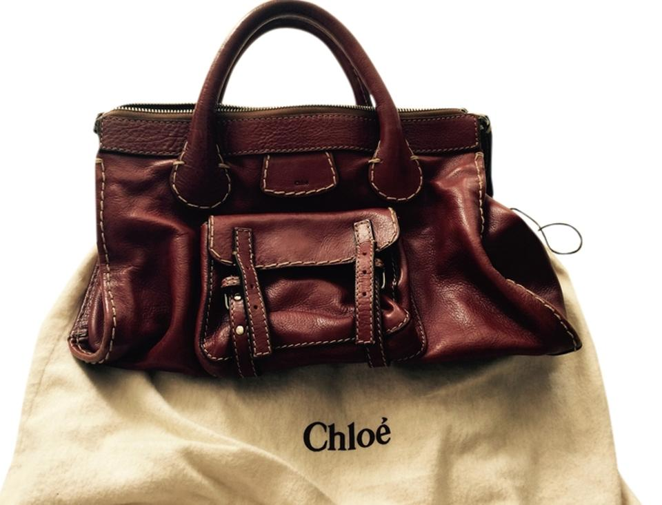 b4d1c04a396c Chloé Edith Nutmeg Leather Satchel - Tradesy