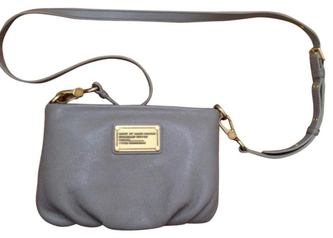 Item - Percy Q Cement/ Grey Leather Shoulder Bag