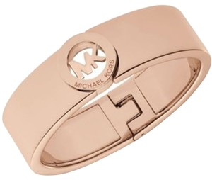 Michael Kors Michael Kors Rose Gold-Tone Logo Bangle Bracelet MKJ2927