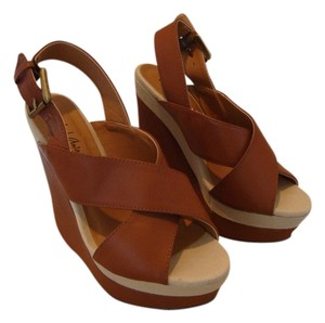 Michael Antonio Strap Brown and Beige Wedges