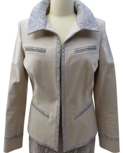 Dana Buchman Leather Trim Sand Jacket