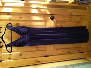 David's Bridal Purple Other Long Jersey Charmeuse Straps and Waist Styl Formal Bridesmaid/Mob Dress Size 4 (S)