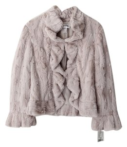 Joseph Ribkoff Jacket Faux Fur Ruffle Fur Coat