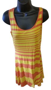 Calvin Klein short dress Orange and yellow on Tradesy
