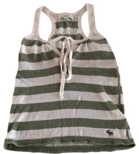 Abercrombie & Fitch & Summer White Top Green