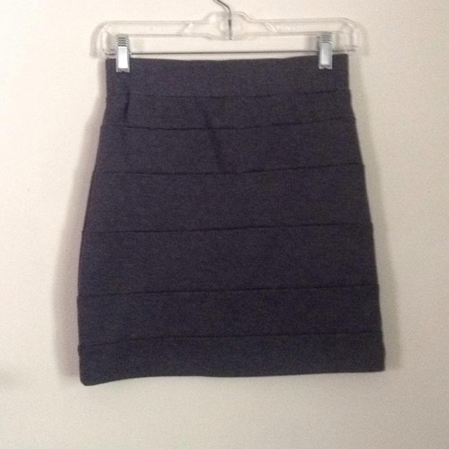 Lush Mini Skirt Gray