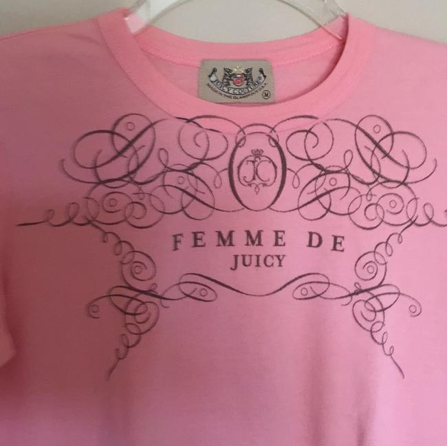 Juicy Couture T Shirt Pink and tan print