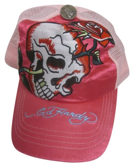 Ed Hardy Ed Hardy Pink Skull Hat Classic Design Great Condition