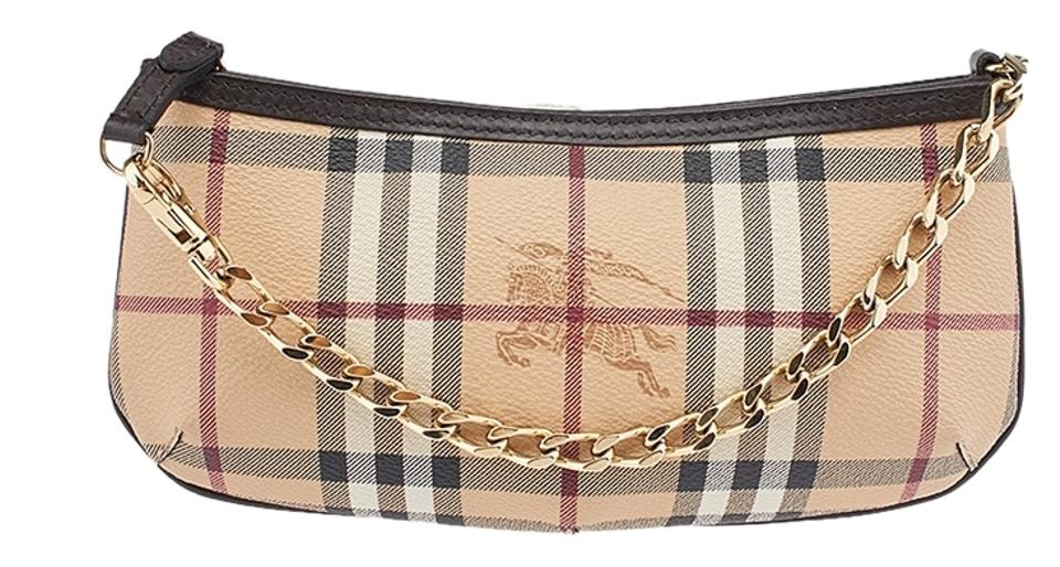 2ff2517ad939ca Burberry Haymarket Clara Coated Canvas Pochette Baguette Image 0 ...